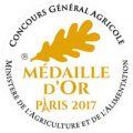 Médaille d'or Concours général agricole de Paris 2017