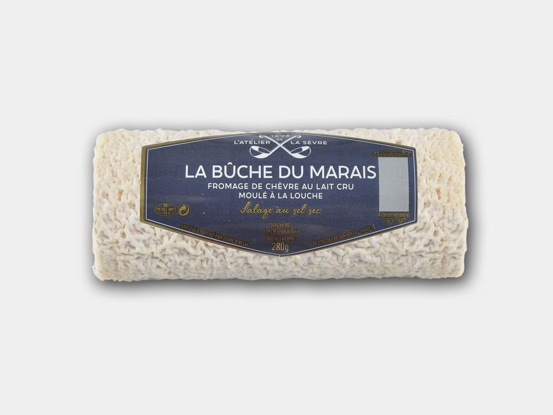 La bûche du Marais 280g - fromage de chèvre - lait cru - moulé louche - Atelier de la sèvre